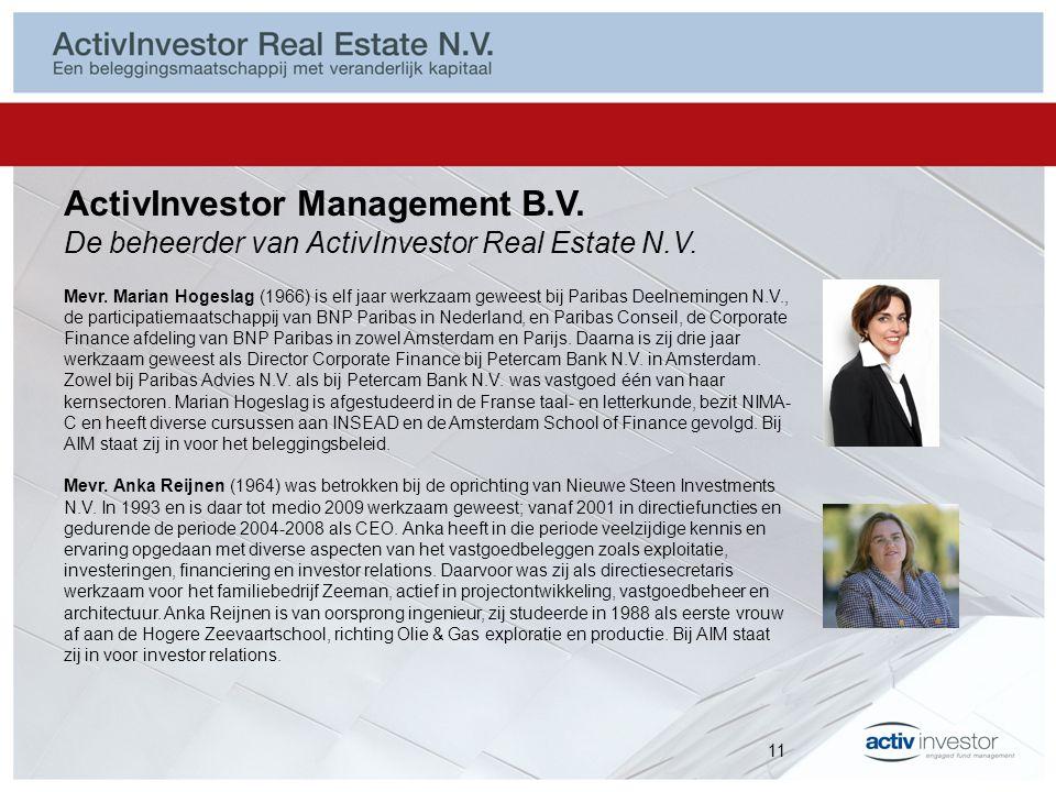 ActivInvestor Management B.V. De beheerder van ActivInvestor Real Estate N.V.
