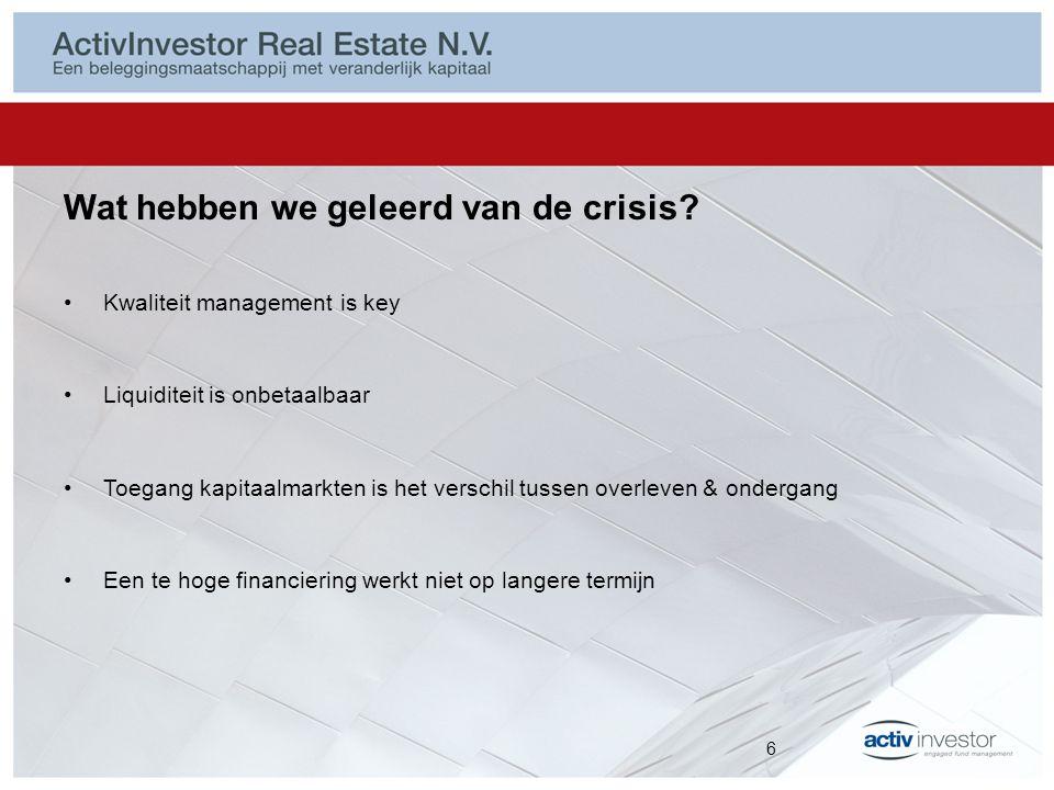 Portefeuille ActivInvestor Real Estate N.V.