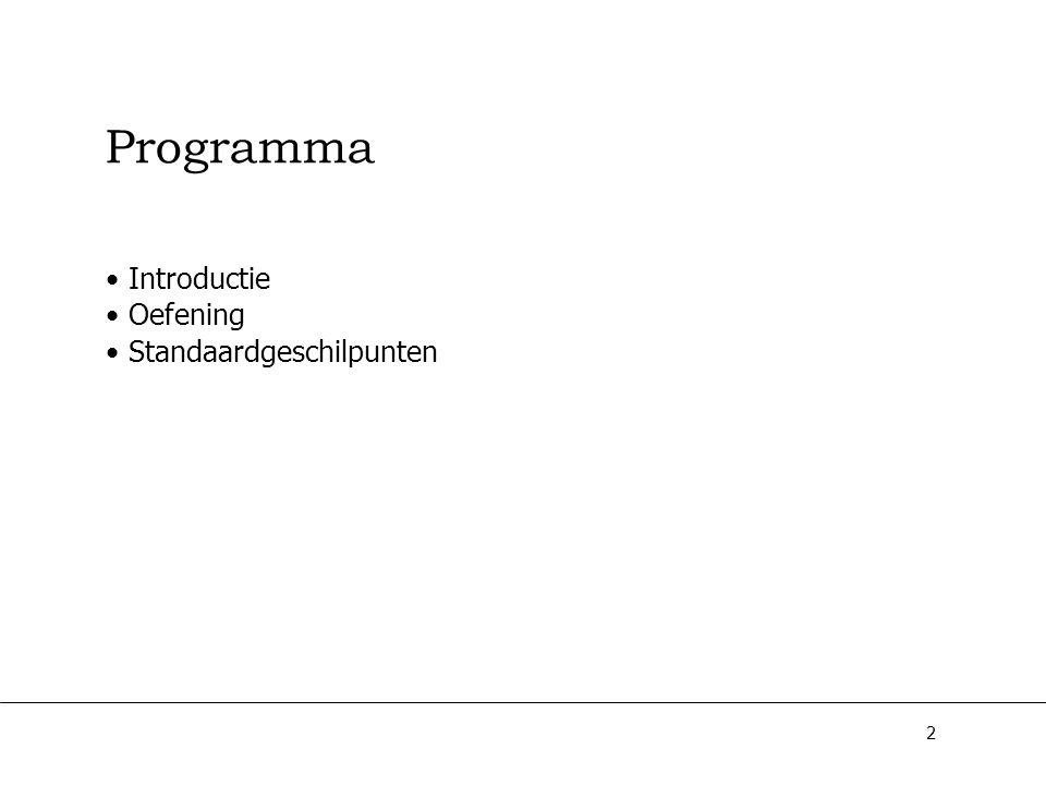 2 Programma Introductie Oefening Standaardgeschilpunten
