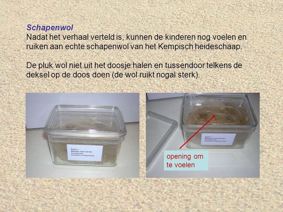 Heideplag Op de post staat een plastic doos met een heideplag.
