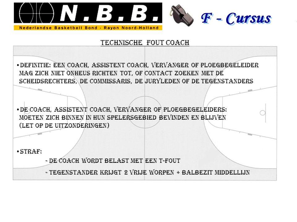 technische fout coach definitie: een coach, assistent coach, vervanger of ploegbegeleider mag zich niet onheus richten tot, of contact zoeken met de s