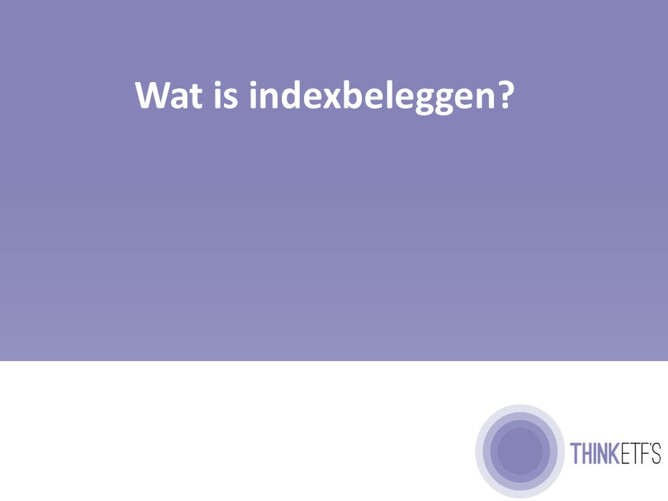 Wat is indexbeleggen?