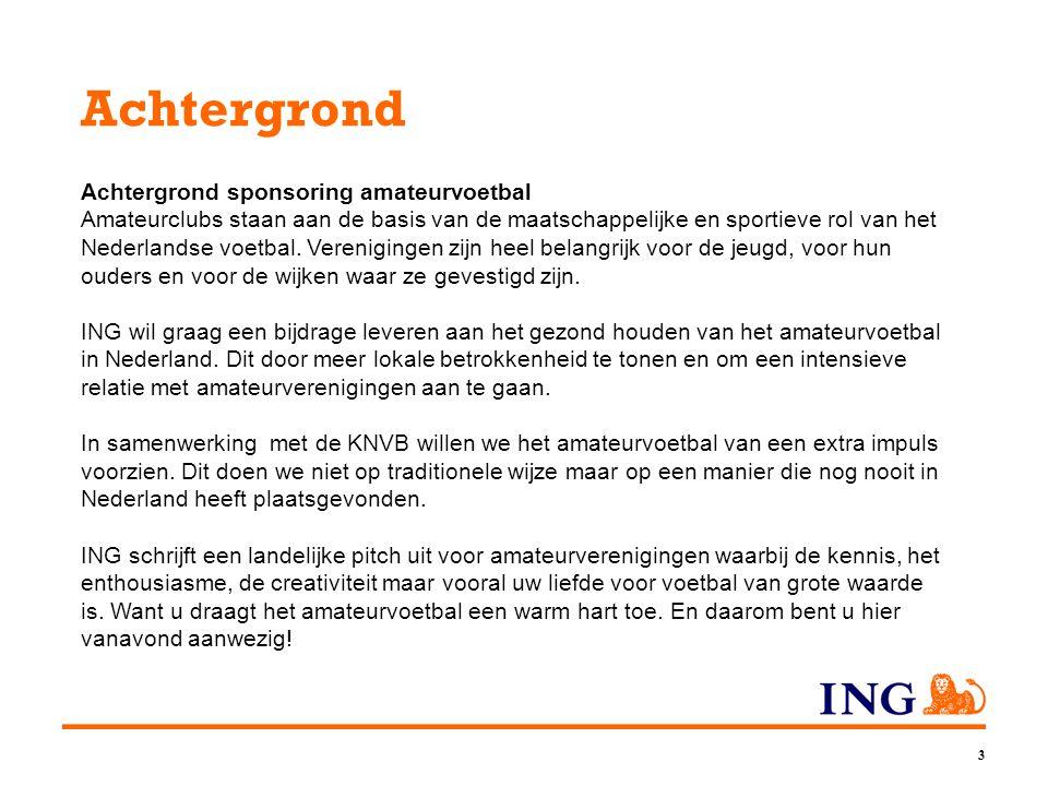 3 Achtergrond Achtergrond sponsoring amateurvoetbal Amateurclubs staan aan de basis van de maatschappelijke en sportieve rol van het Nederlandse voetbal.