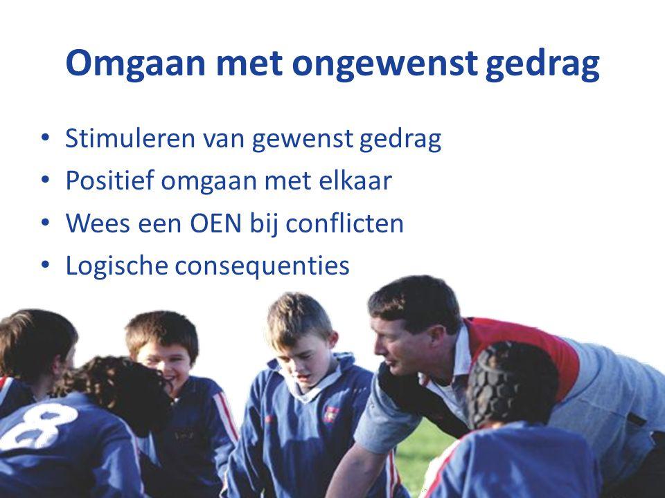 Respect! Copyright © Stichting Jeugdsport stichtingjeugdsport.nl Alle rechten voorbehouden. Omgaan met ongewenst gedrag Stimuleren van gewenst gedrag