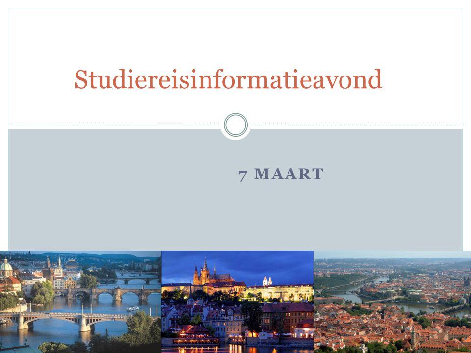 7 MAART Studiereisinformatieavond