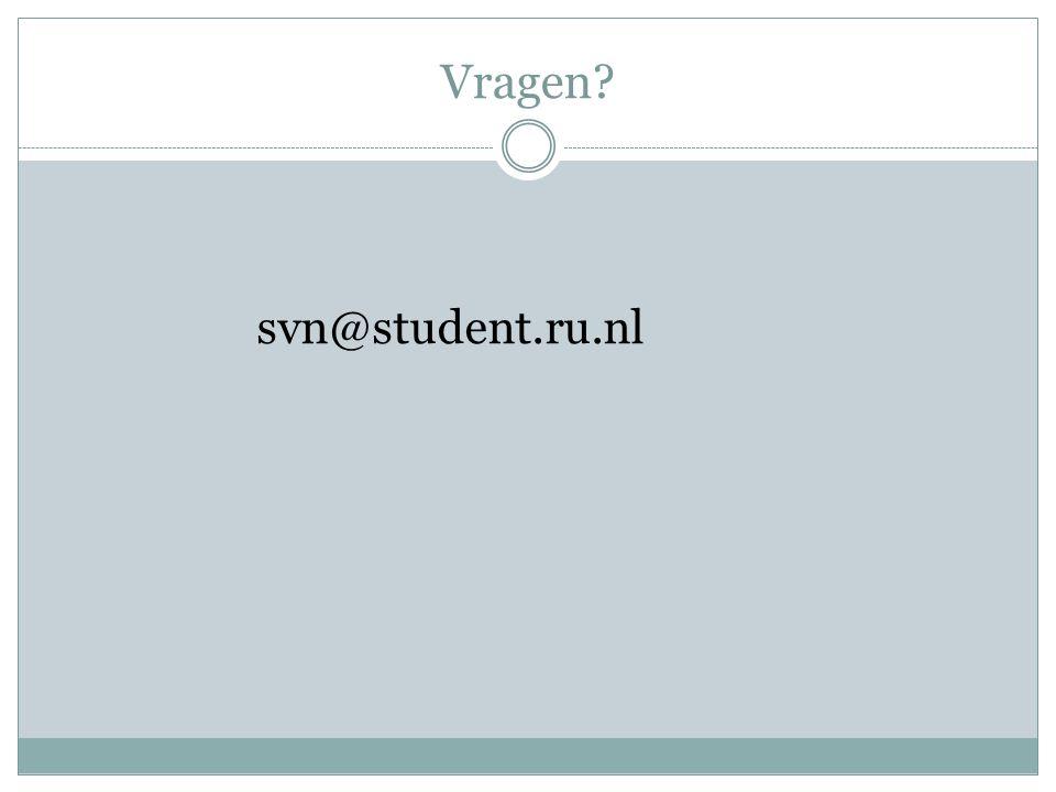 Vragen svn@student.ru.nl