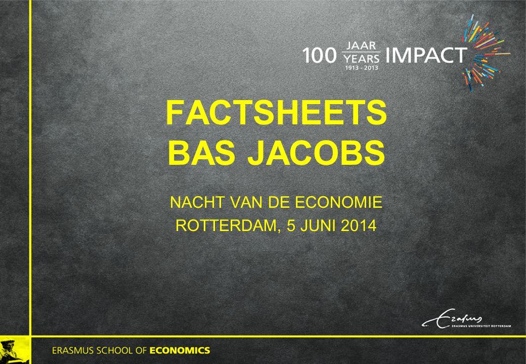 FACTSHEETS BAS JACOBS NACHT VAN DE ECONOMIE ROTTERDAM, 5 JUNI 2014