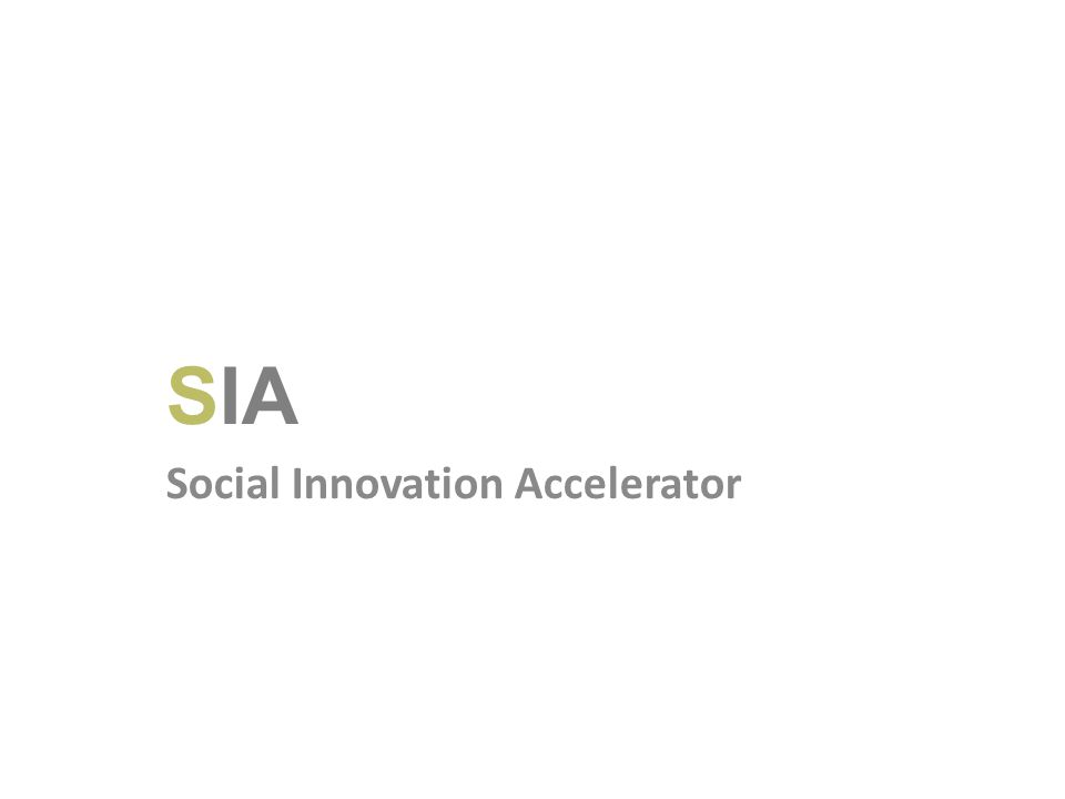 SIA Social Innovation Accelerator