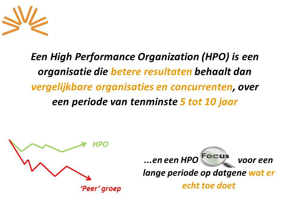 Een High Performance Organization (HPO) is een organisatie die betere resultaten behaalt dan vergelijkbare organisaties en concurrenten, over een peri