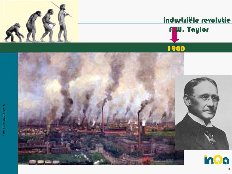 © 2009 INQA Quality Consultants BV 8 1900 industriële revolutie F.W. Taylor