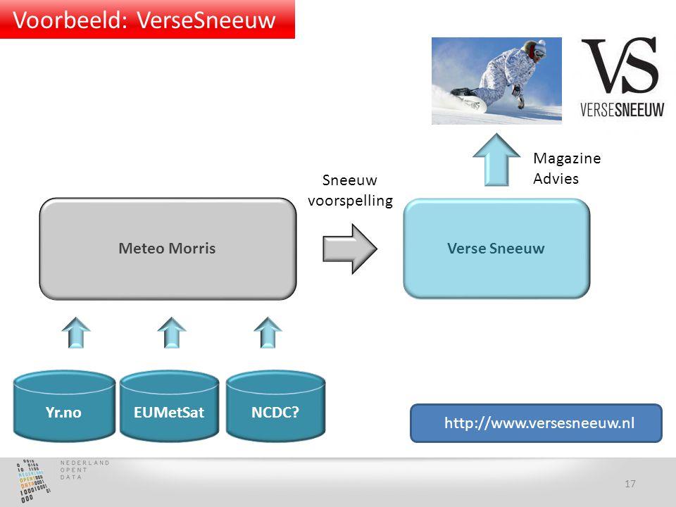 Yr.no Verse Sneeuw EUMetSat Magazine Advies Meteo Morris Sneeuw voorspelling NCDC.