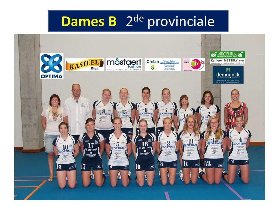 Dames B 2 de provinciale