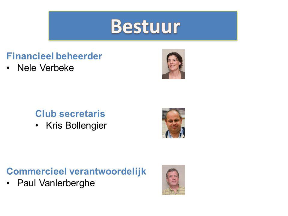 Financieel beheerder Nele Verbeke Club secretaris Kris Bollengier Commercieel verantwoordelijk Paul Vanlerberghe