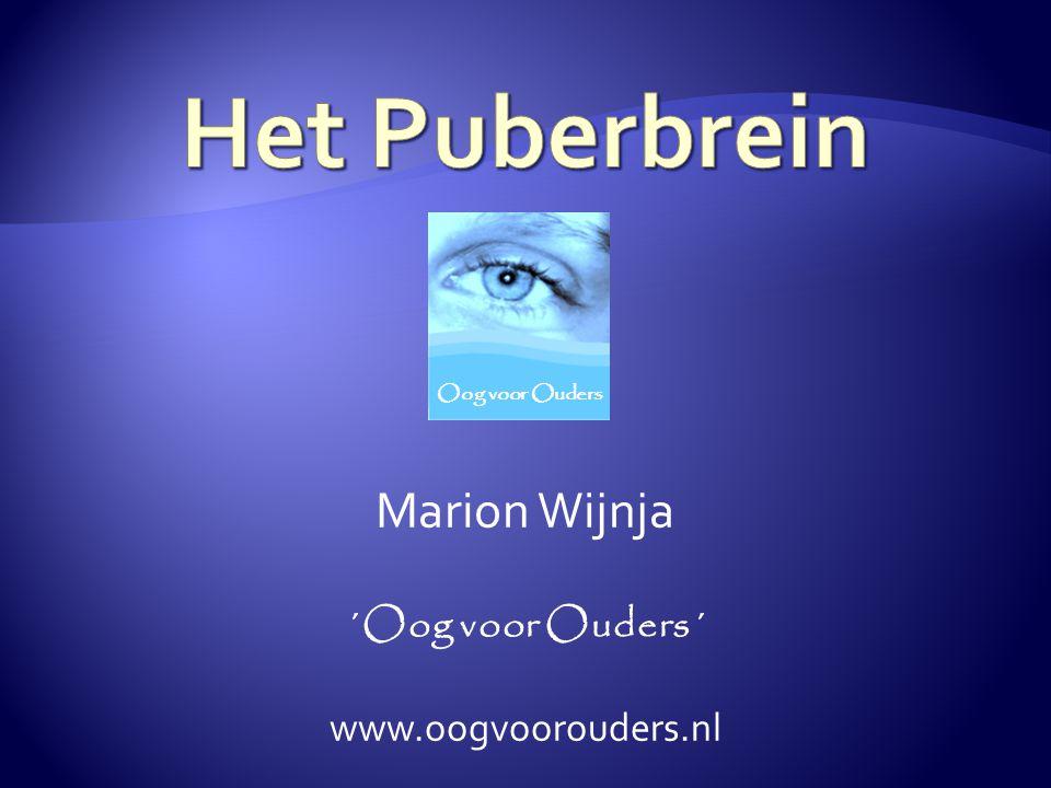 Marion Wijnja ´Oog voor Ouders´ www.oogvoorouders.nl Oog voor Ouders