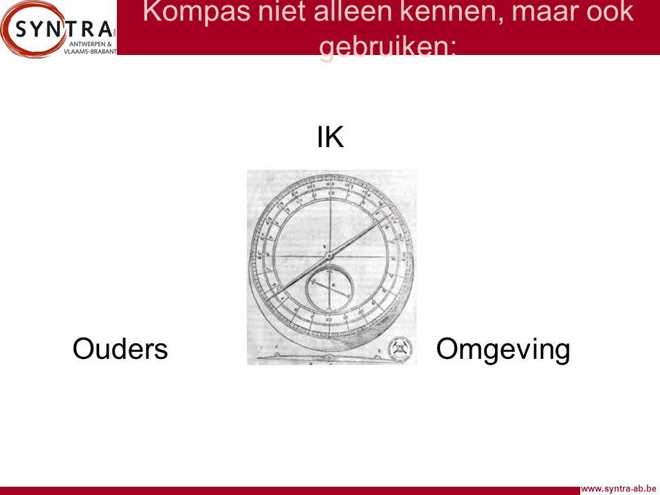 www.syntra-ab.be Kompas niet alleen kennen, maar ook gebruiken: IK OudersOmgeving