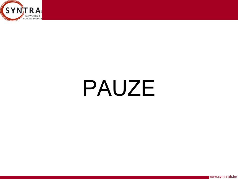 www.syntra-ab.be PAUZE