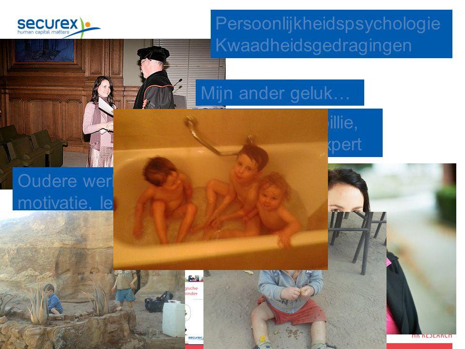 2 Oudere werknemers, motivatie, leiderschap, het nieuwe werken, demotie, organisatieveranderingen Persoonlijkheidspsychologie Kwaadheidsgedragingen Hermina Van Coillie, HR Research Expert Mijn ander geluk…