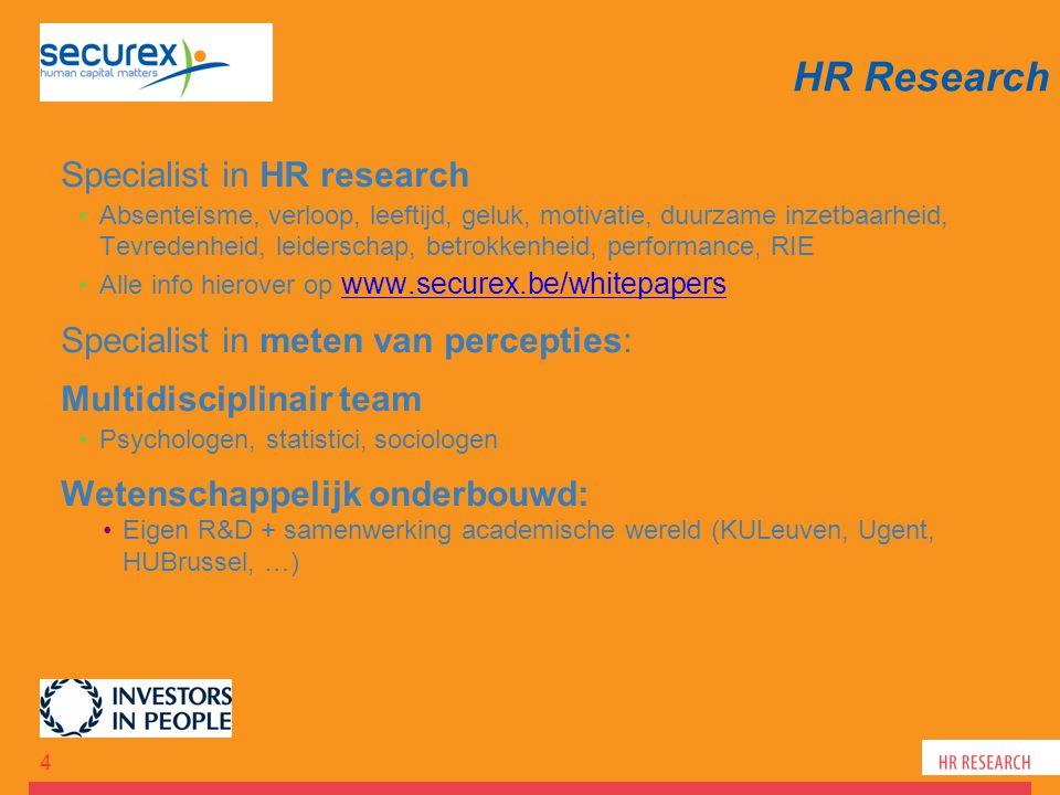 Specialist in HR research Absenteïsme, verloop, leeftijd, geluk, motivatie, duurzame inzetbaarheid, Tevredenheid, leiderschap, betrokkenheid, performa
