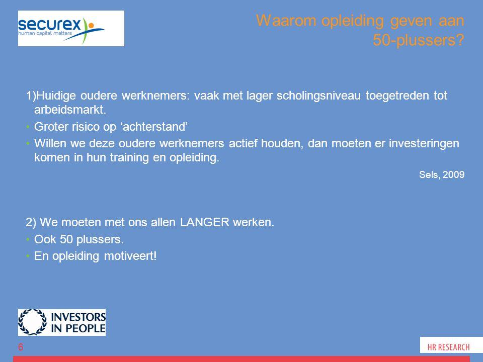 Evidentie uit eigen onderzoek Opleiding 47 Training en opleiding Autonome motivatie Tevredenheid Org.