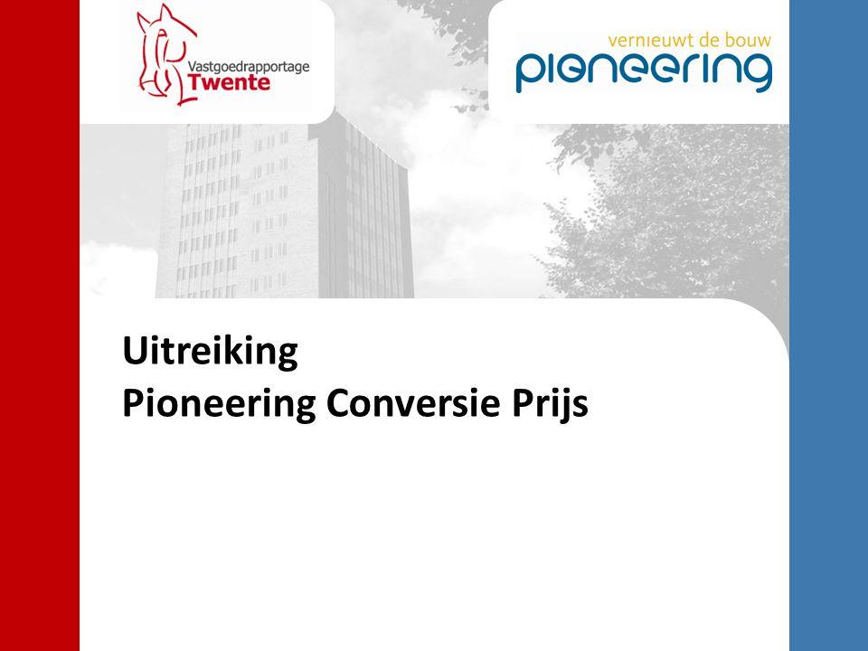 Uitreiking Pioneering Conversie Prijs
