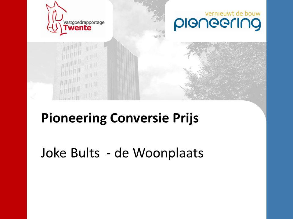Pioneering Conversie Prijs Joke Bults - de Woonplaats