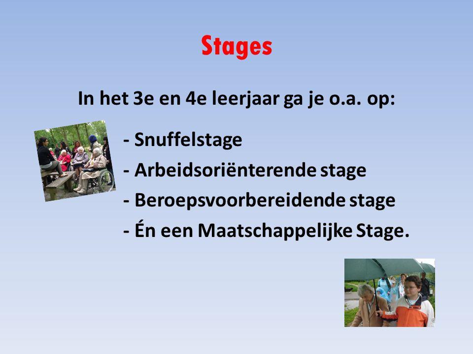 Stages In het 3e en 4e leerjaar ga je o.a.