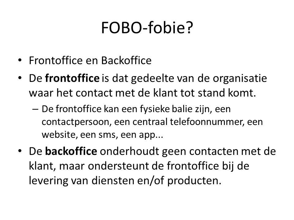Mid-office Een mid-office laat interactie en transacties toe tussen de front- en de backoffice Verschil met een e-loket.