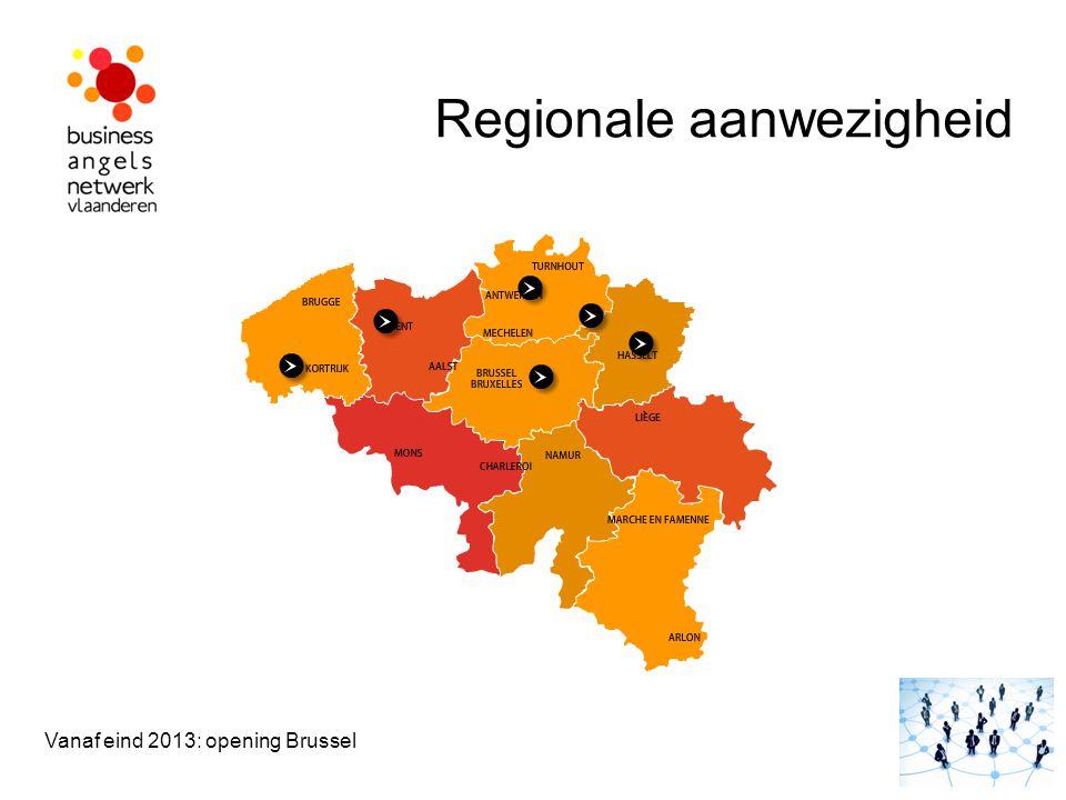 Regionale aanwezigheid Vanaf eind 2013: opening Brussel GEEL