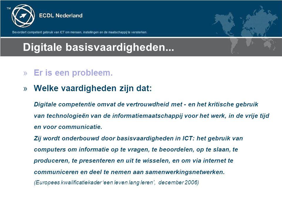 Digitale basisvaardigheden... »Er is een probleem.