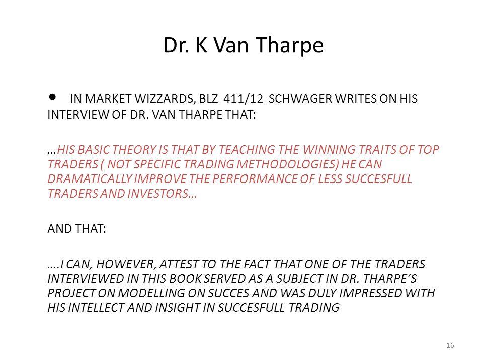 Dr. K Van Tharpe 16
