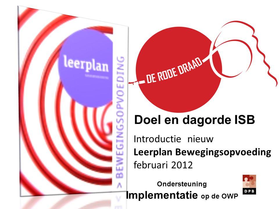 Introductie nieuw Leerplan Bewegingsopvoeding februari 2012 Doel en dagorde ISB Ondersteuning Implementatie op de OWP