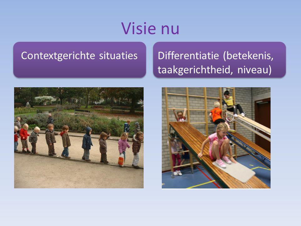 Visie nu Contextgerichte situaties Differentiatie (betekenis, taakgerichtheid, niveau)