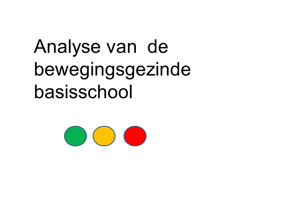 Analyse van de bewegingsgezinde basisschool