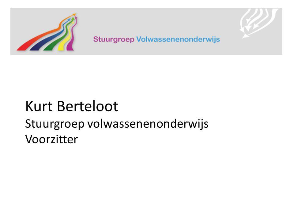 Kurt Berteloot Stuurgroep volwassenenonderwijs Voorzitter