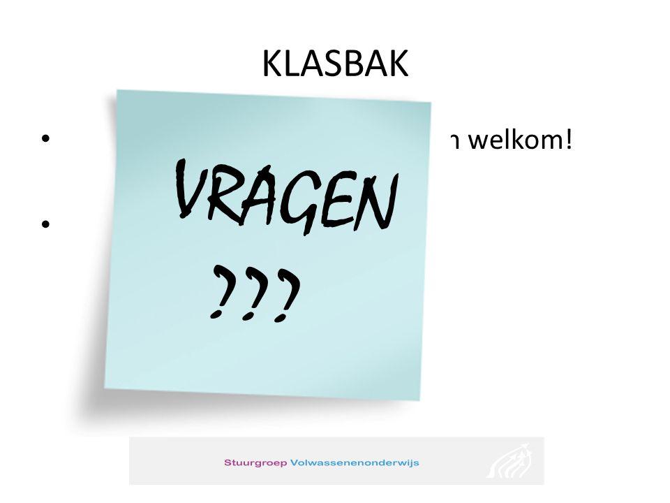 KLASBAK Suggesties en aanbevelingen zijn welkom! Contact: Inge Van Acker Stuurgroep volwassenenonderwijs Projectmedewerker onderwijs aan gedetineerden