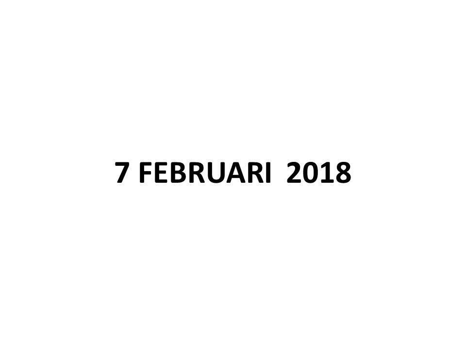 7 FEBRUARI 2018