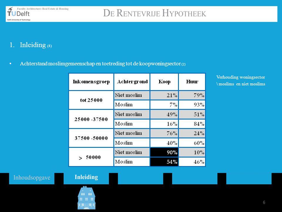 17 3.Resultaten (7) 3.2Hypotheekafnemers: Eindgebruikers Verdeling binnen de woningsector