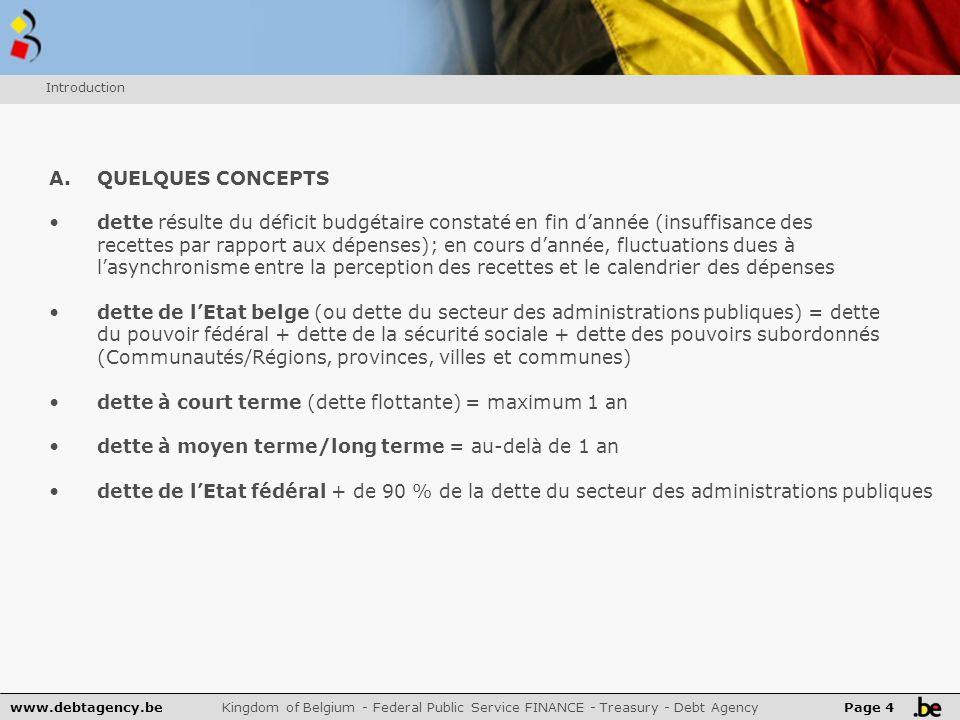 www.debtagency.be Kingdom of Belgium - Federal Public Service FINANCE - Treasury - Debt Agency Page 5 B.