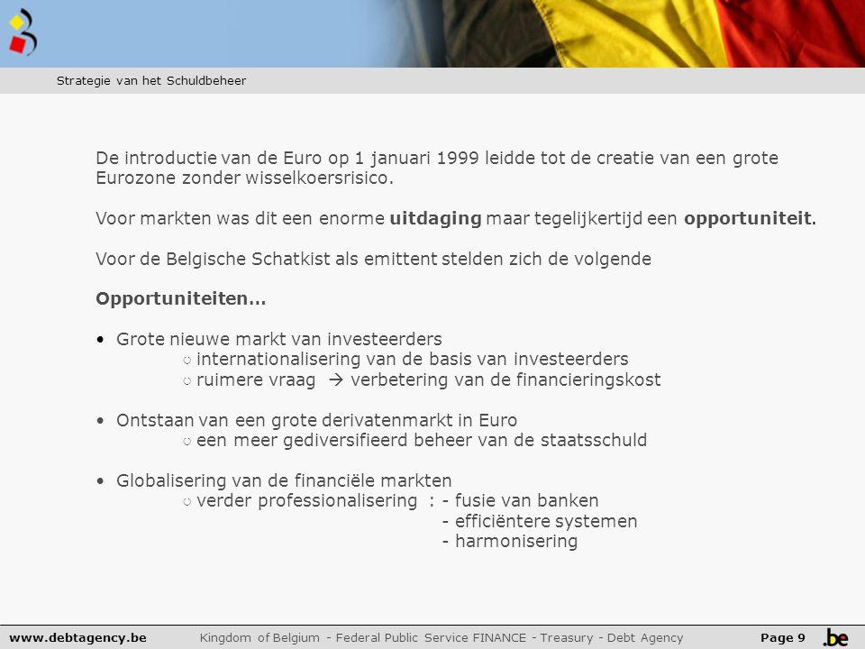 12/2009:81.8%niet-België 12/2009:57.3%niet-België www.debtagency.be Kingdom of Belgium - Federal Public Service FINANCE - Treasury - Debt Agency Page 20 Resultaat van deze strategie van liquiditeit : ….