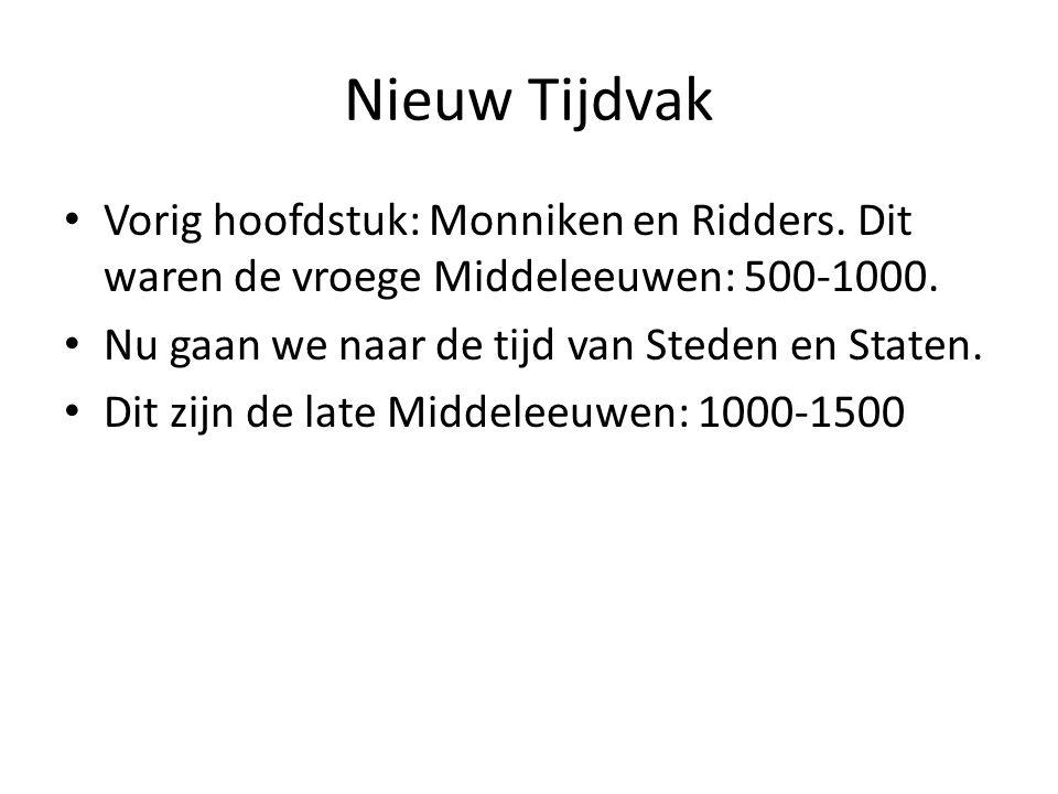 Nieuw Tijdvak Vorig hoofdstuk: Monniken en Ridders.