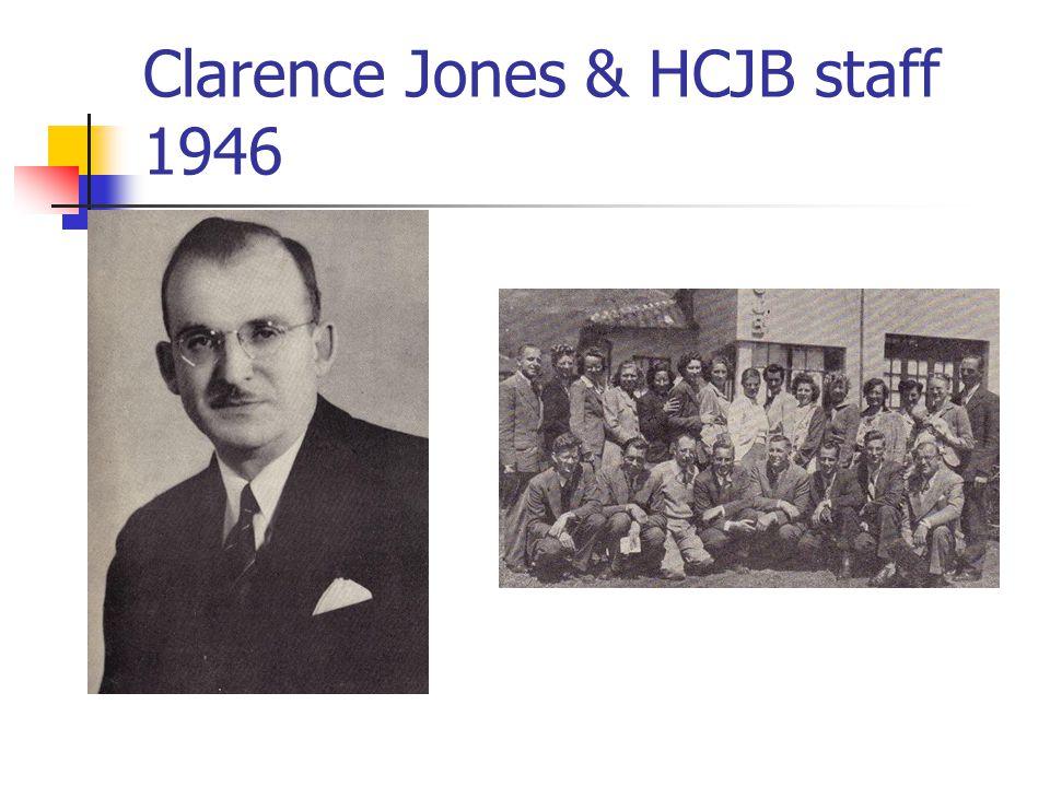 Clarence Jones & HCJB staff 1946