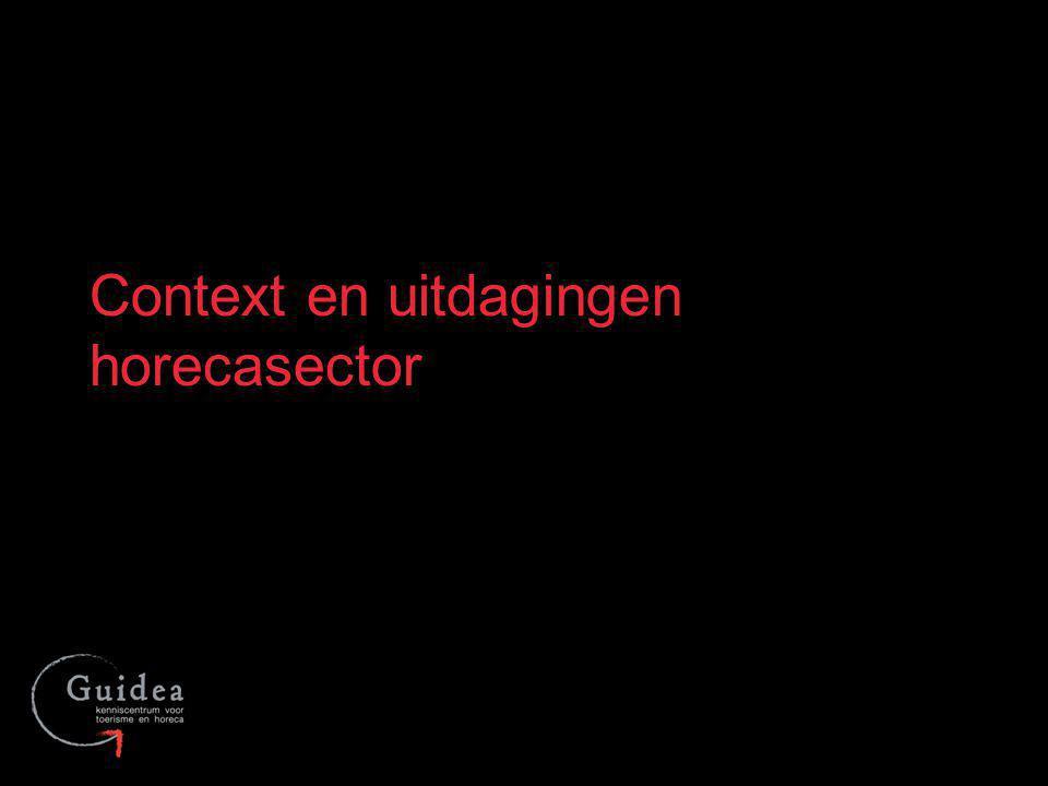 Meerderheid kleinschalige ondernemingen –69.092 werknemers (2011) en 25.028 zelfstandigen (2011) gespreid over 33.992 ondernemingen (2011) in Vlaanderen Heterogene sector: Ho, Re en Ca Arbeidsintensief karakter met veel aandacht voor vakmanschap 9Voorstelling Guidea De horecasector