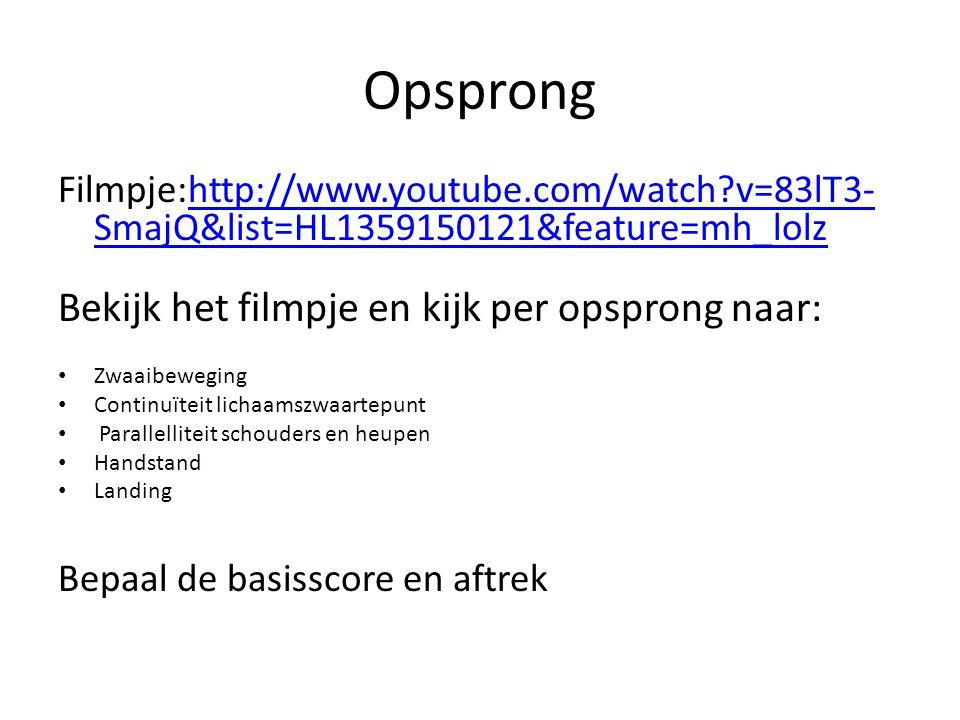 Opsprong Filmpje:http://www.youtube.com/watch?v=83lT3- SmajQ&list=HL1359150121&feature=mh_lolzhttp://www.youtube.com/watch?v=83lT3- SmajQ&list=HL13591