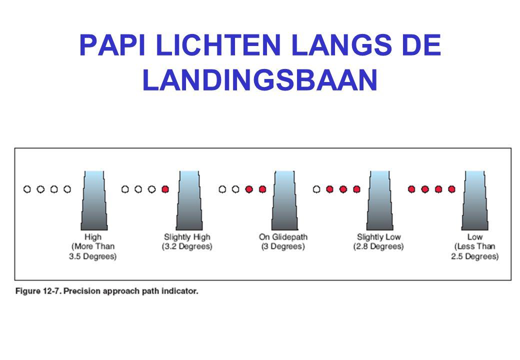 PAPI LICHTEN LANGS DE LANDINGSBAAN