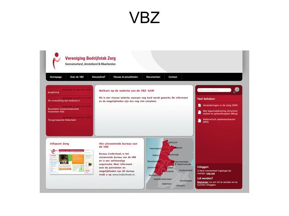 Alle activiteiten van de VBZ worden uitgevoerd door Stichting Bureau Lindenhoek Risico (personeel) en exploitatie zijn ondergebracht bij Stichting Bureau Lindenhoek