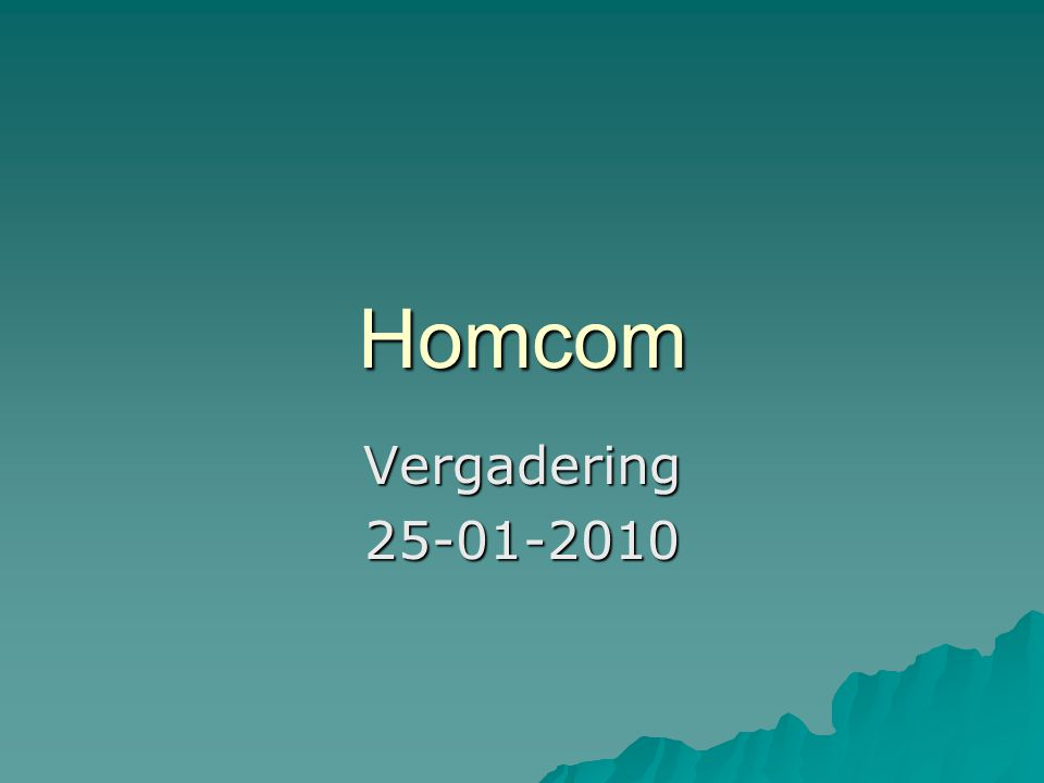 Homcom Vergadering25-01-2010