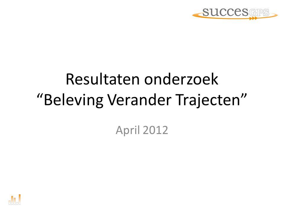Inleiding Rapport onderzoek Beleving Verander Trajecten 11-7-20142 Zeventig procent van mislukte organisatieveranderingen kan verklaard worden door menselijk gedrag.