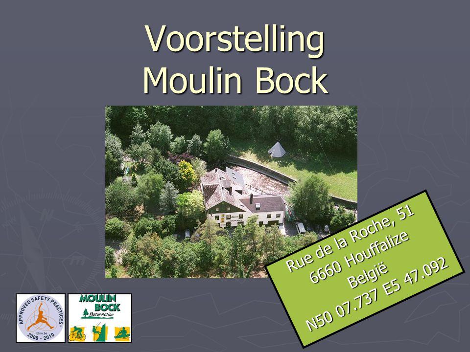 Voorstelling Moulin Bock Rue de la Roche, 51 6660 Houffalize België N50 07.737 E5 47.092