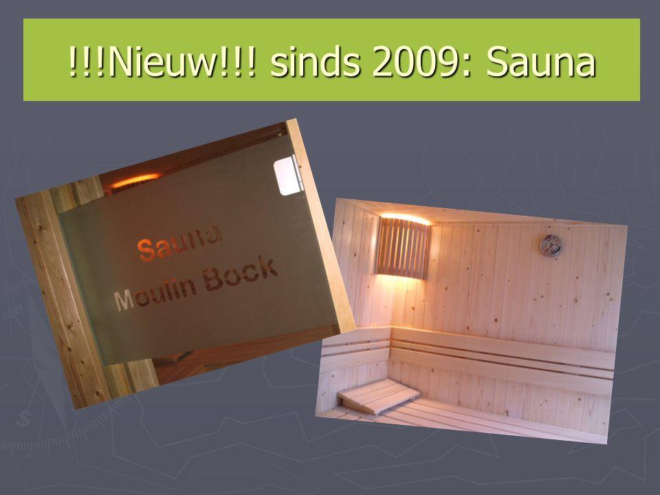 !!!Nieuw!!! sinds 2009: Sauna
