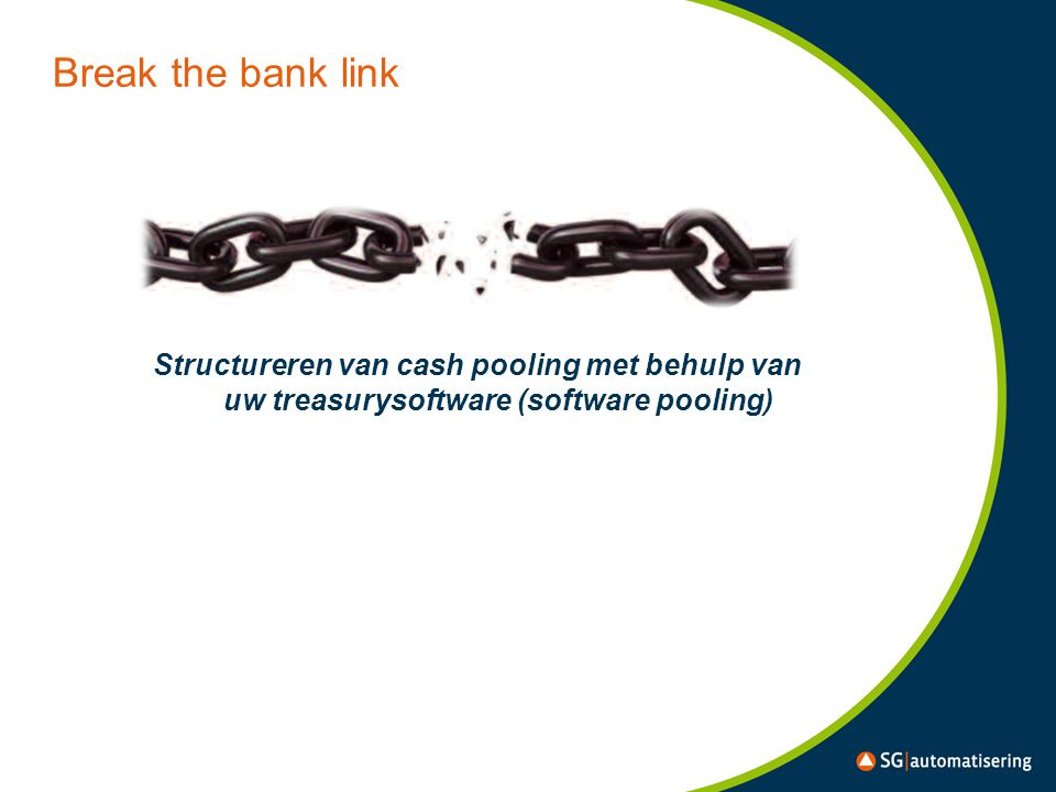 Break the bank link Structureren van cash pooling met behulp van uw treasurysoftware (software pooling)